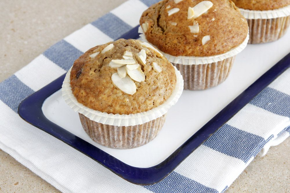 Coffee Muffins with Chocolate and Almonds