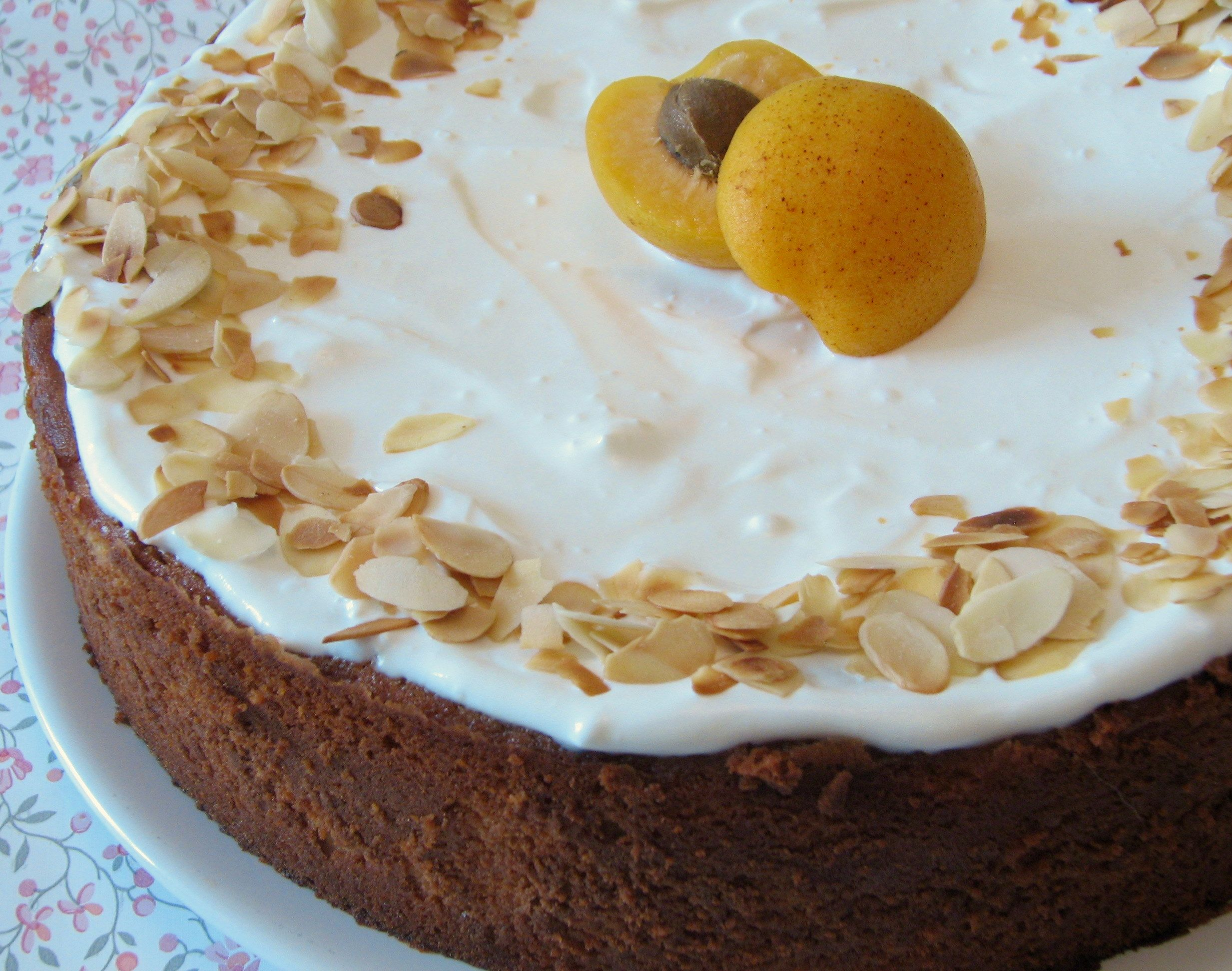 Apricot Ricotta Cake with Almonds