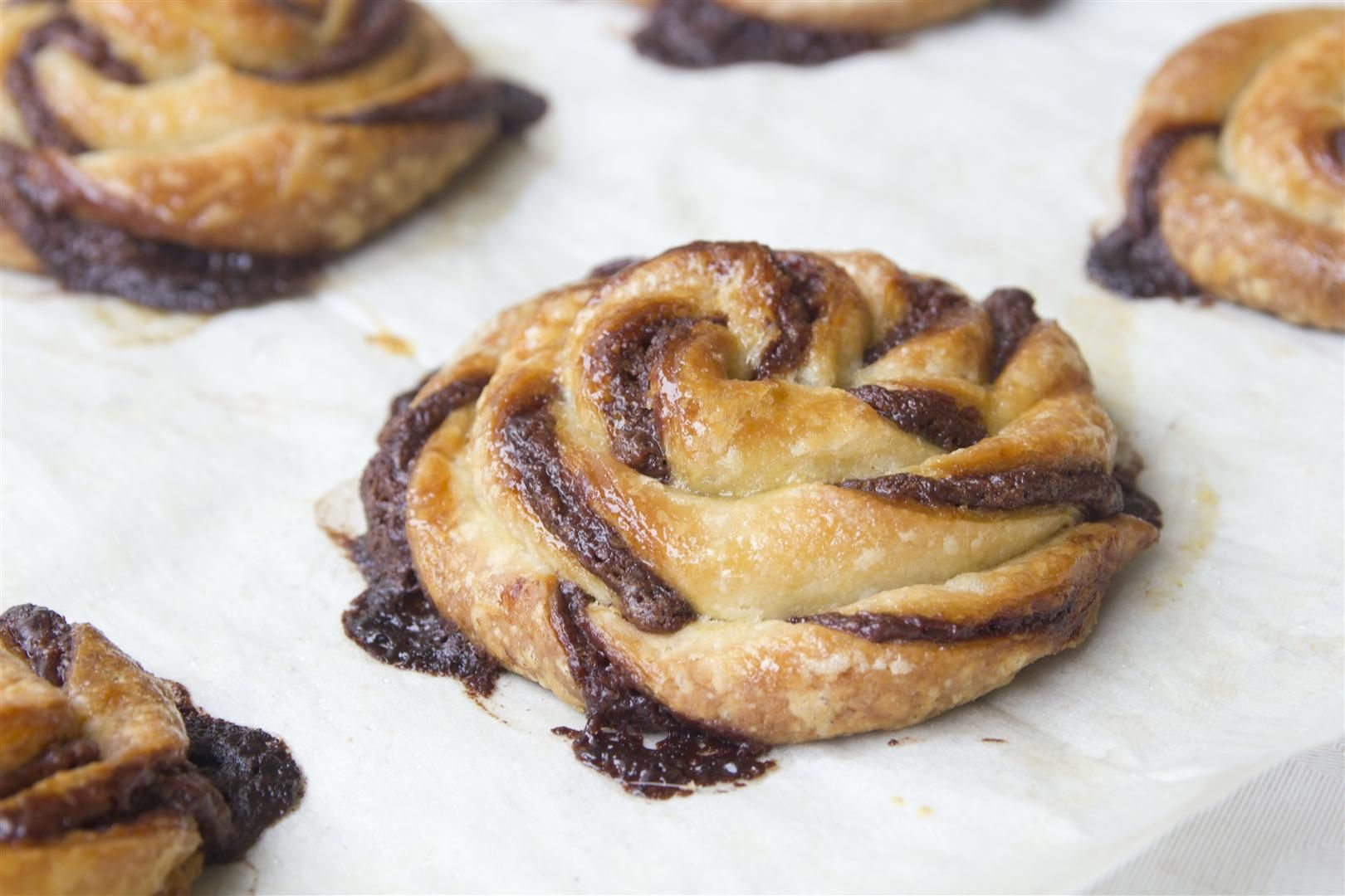 Nutella and Hazelnut Danish Pastries