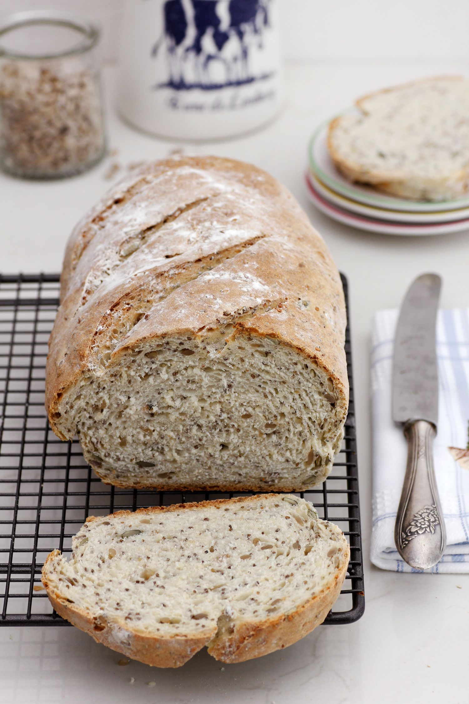Quick and Easy Bread with Grains
