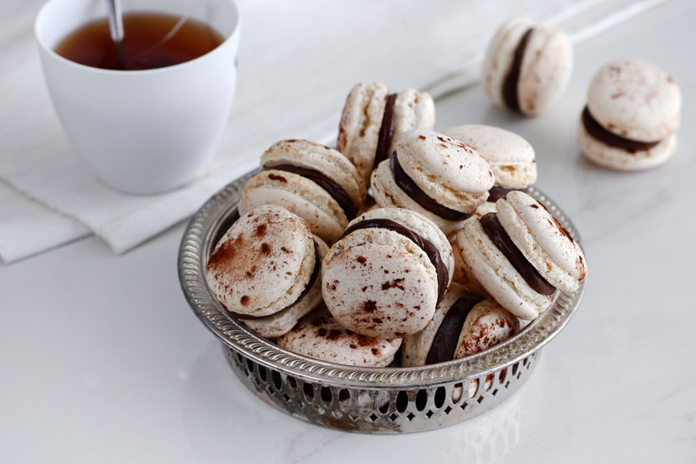 Chocolate and Earl Grey Macarons