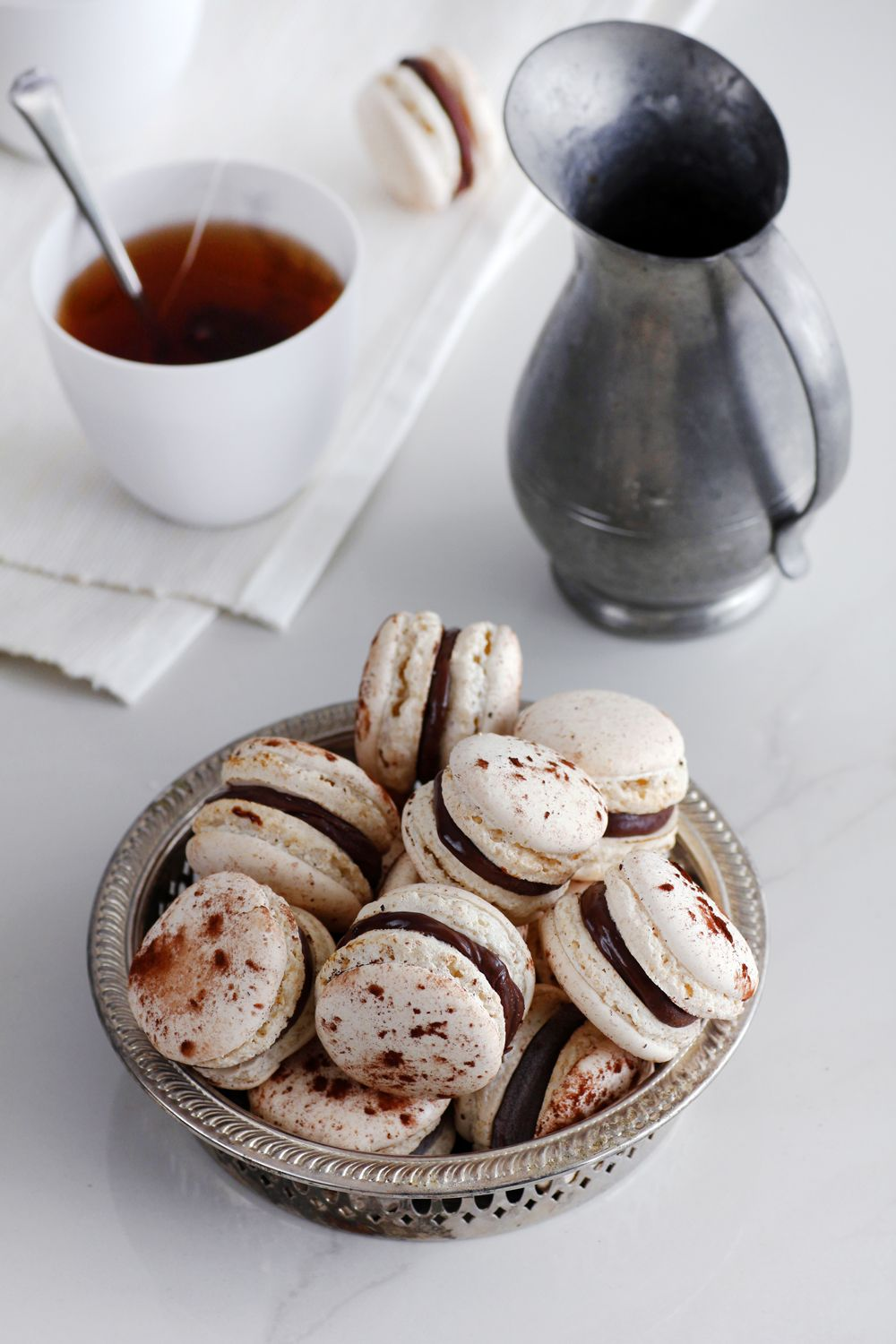 Earl Grey Chocolate Macarons