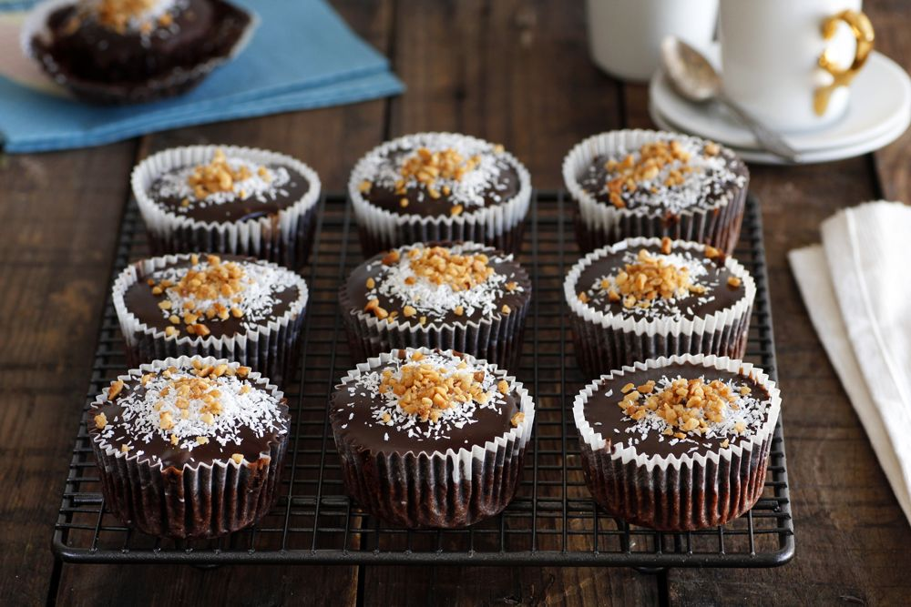Hazelnut and Coconut Chocolate Muffins