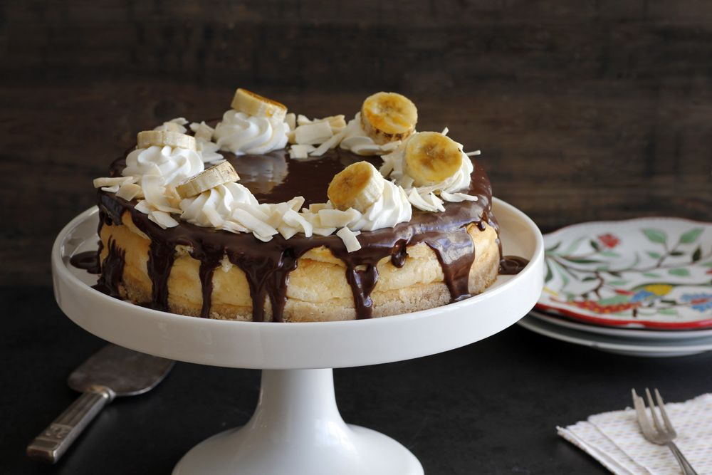 Chocolate and Banana Coconut Cheesecake