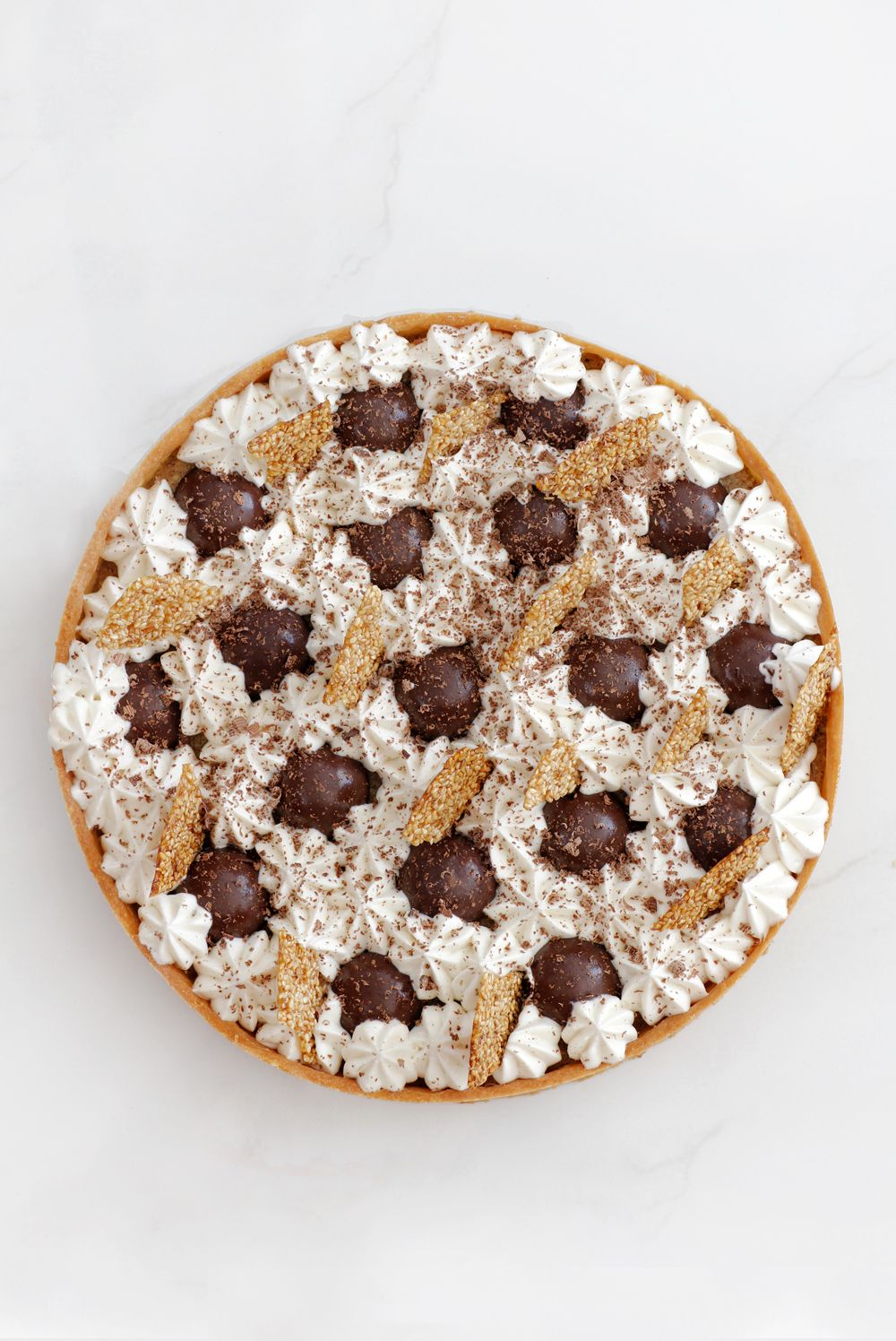 Halva, Pecan and Chocolate Tart
