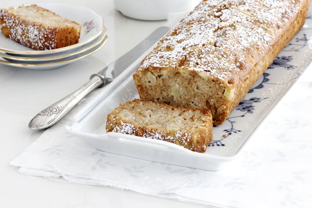 Coconut Honey Cake with Pears