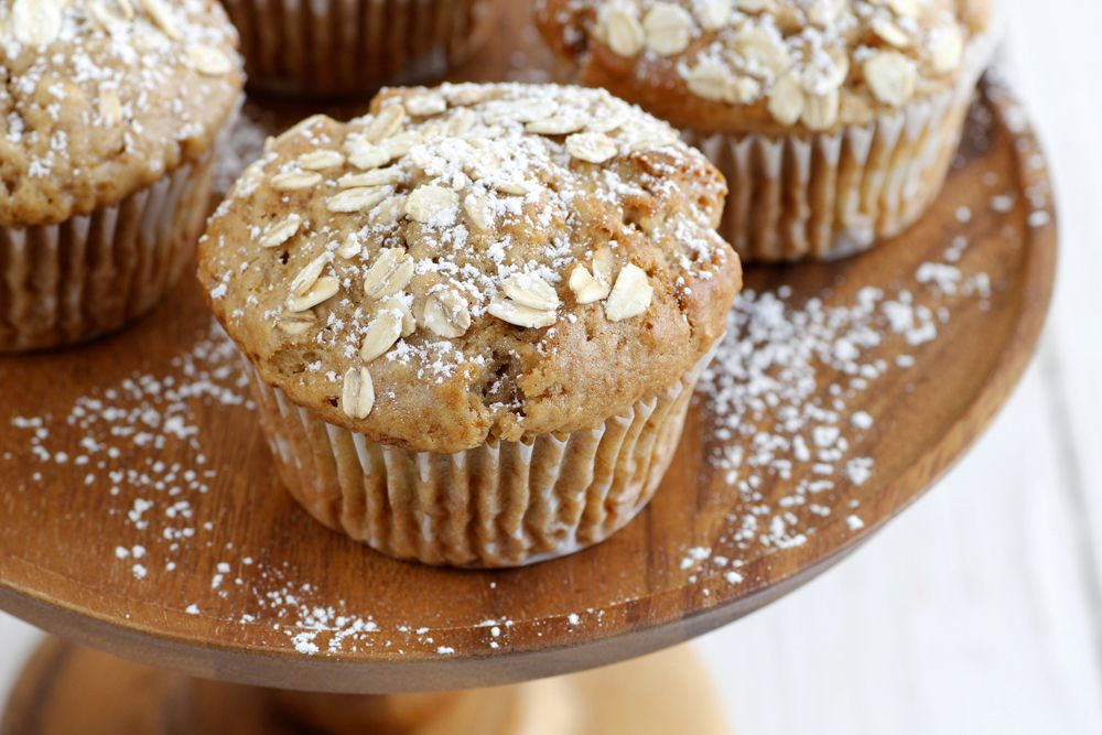 Pear Muffins with Oatmeal
