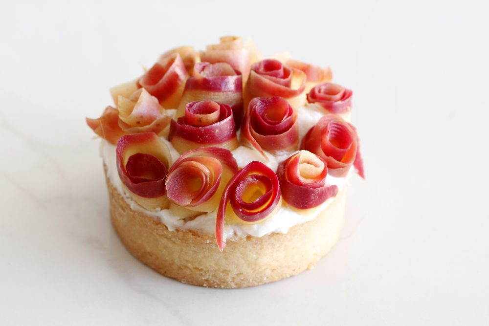 Venus Tartelettes with Apple, Rosewater and Mascarpone
