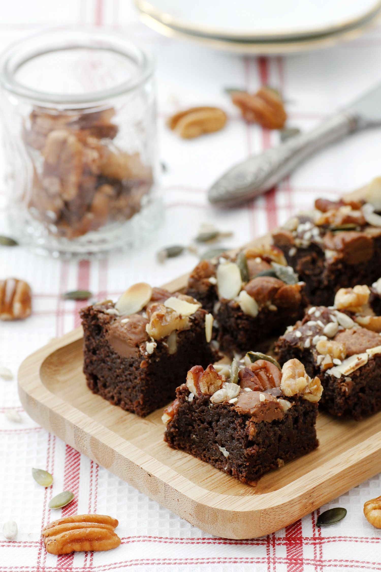 Gluten Free Brownies with Nuts and Seeds