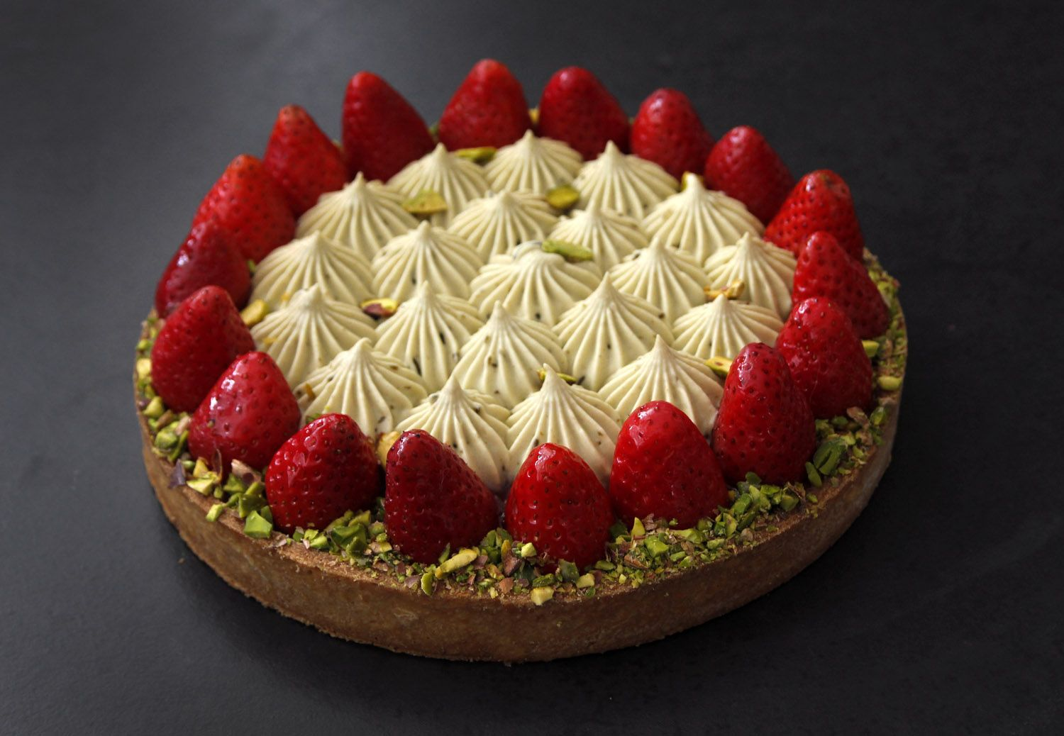 Strawberry and Pistachio Pie