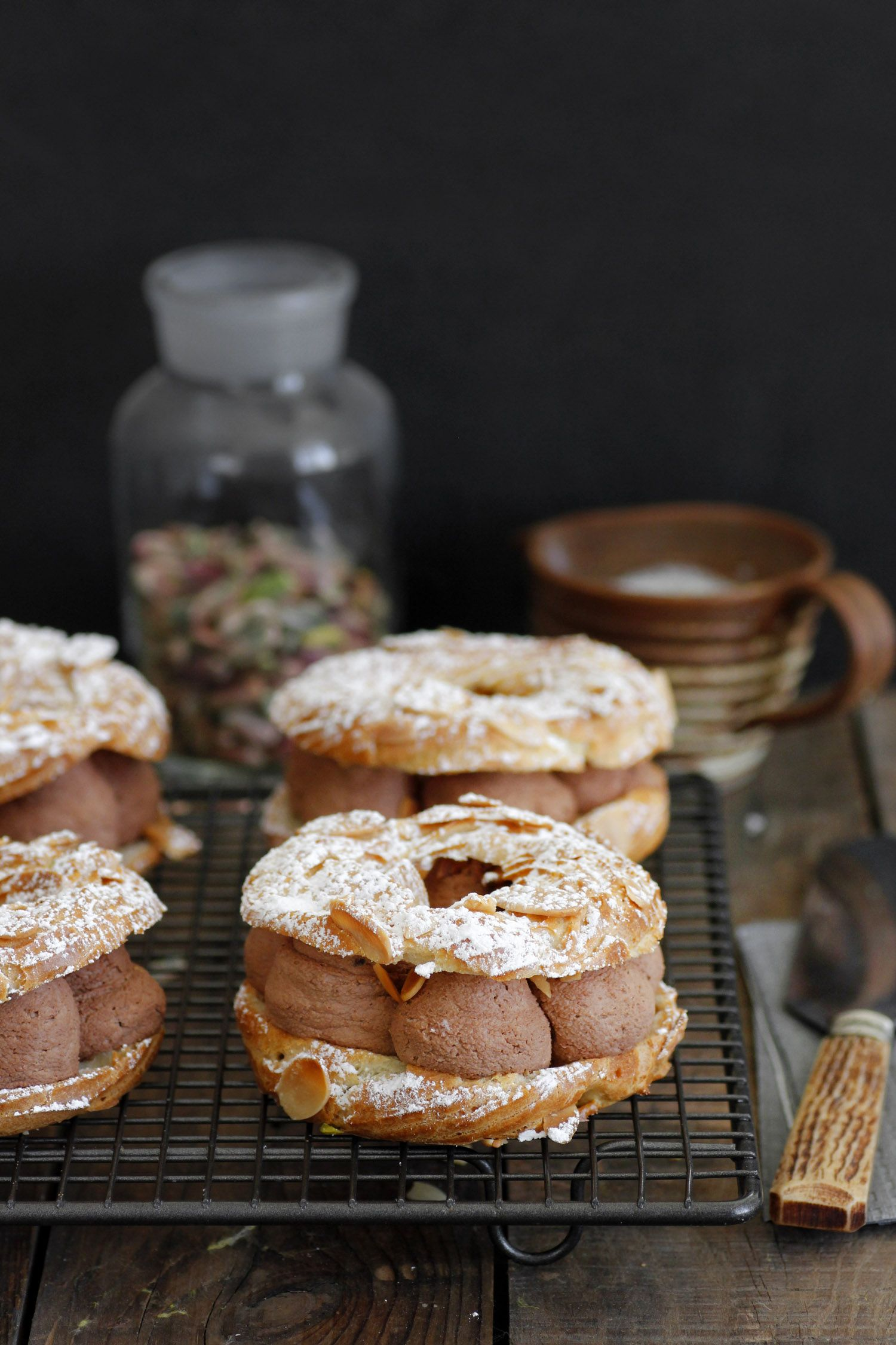 Chocolate and Almond Paris Brest