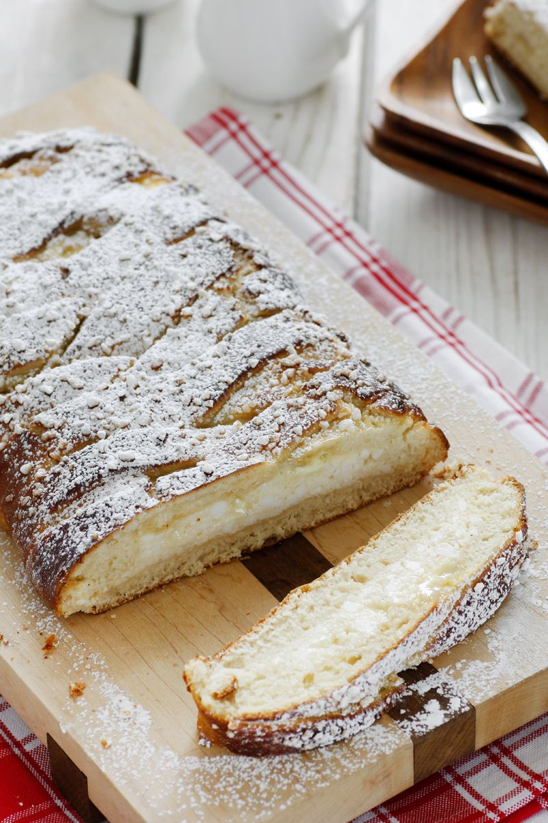 Ricotta and White Chocolate Braid