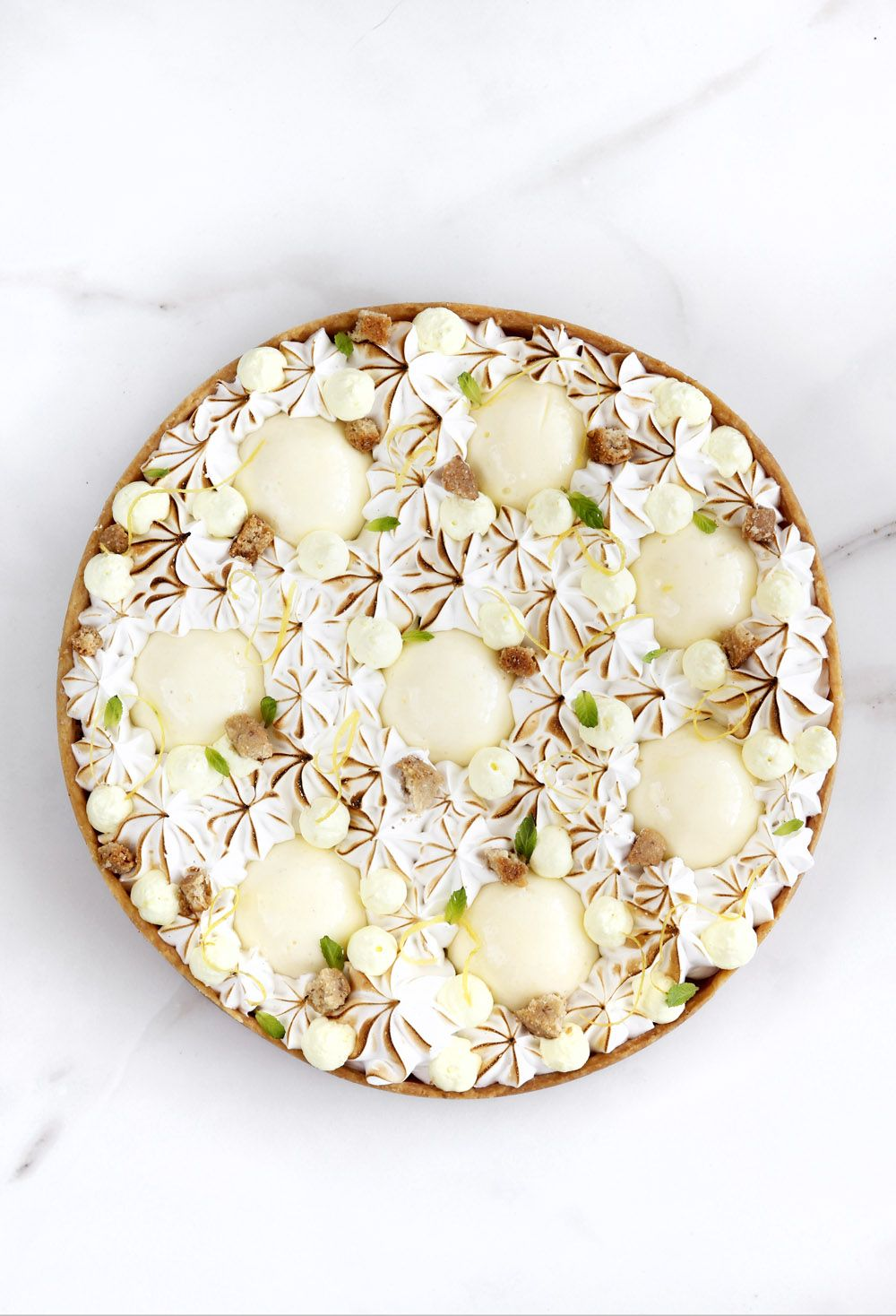 Almond Tart with Lime and Vanilla