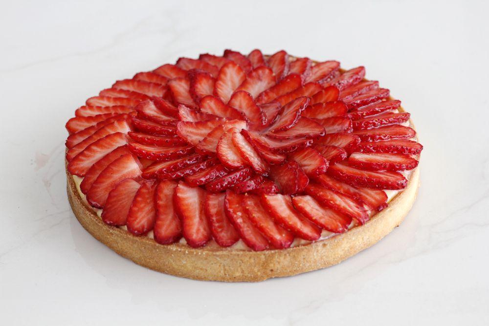 Strawberry Tart with Vanilla Pastry Cream