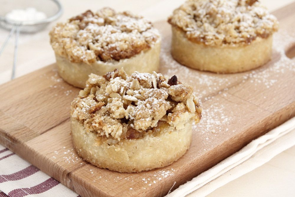 Apple, Almond and Streusel Mini Pies
