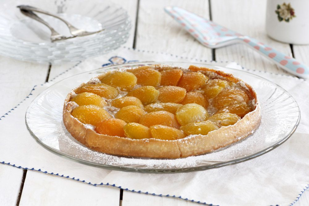 Apricot Tart with Almond Cream
