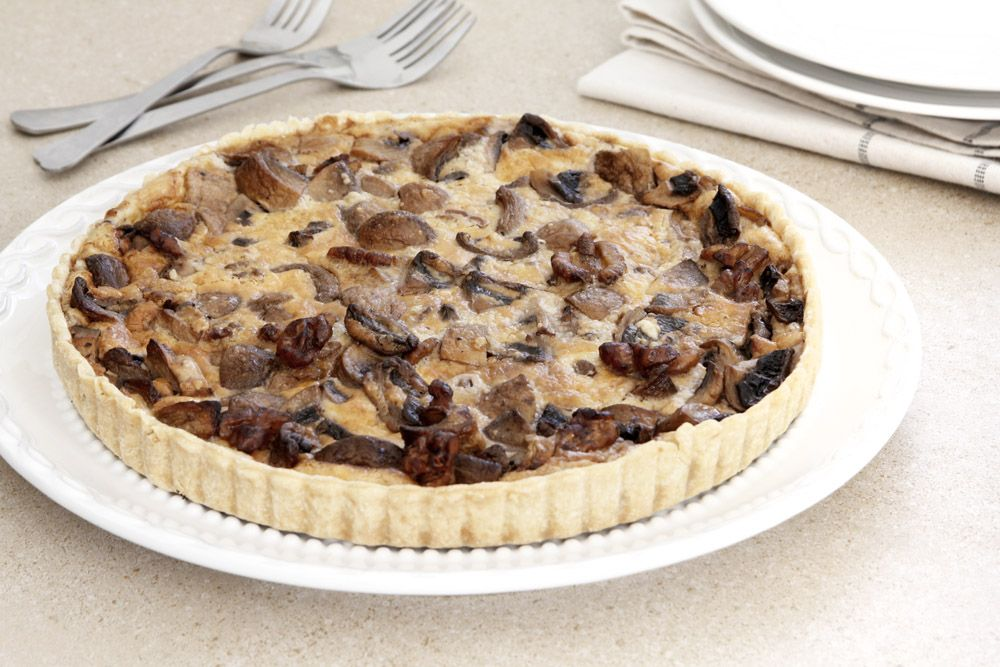 Mushroom Quiche with Walnut