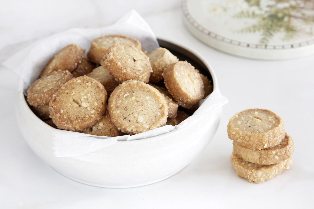 Slice and Bake Coffee Cookies with Pecans