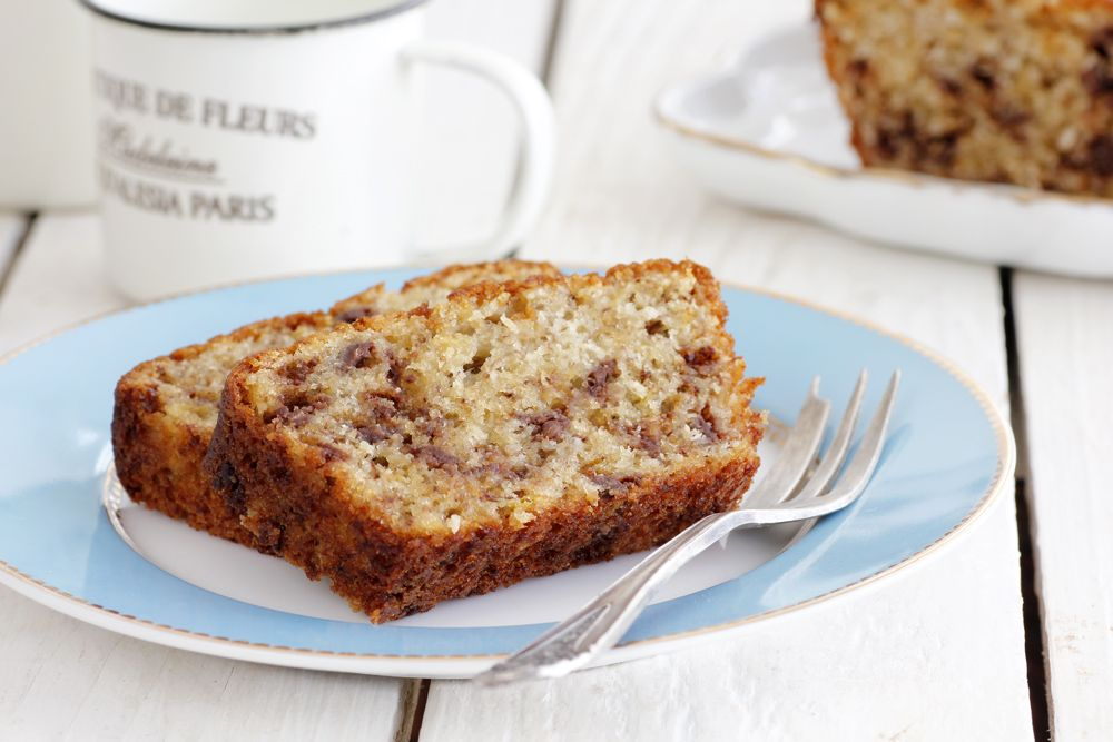 Almond, Chocolate and Cinnamon Banana Bread
