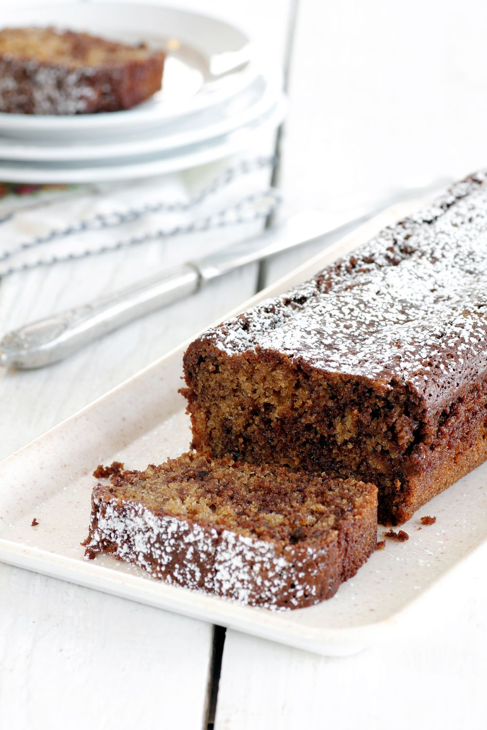 Marbled Coffee Chocolate Cake with Coconut