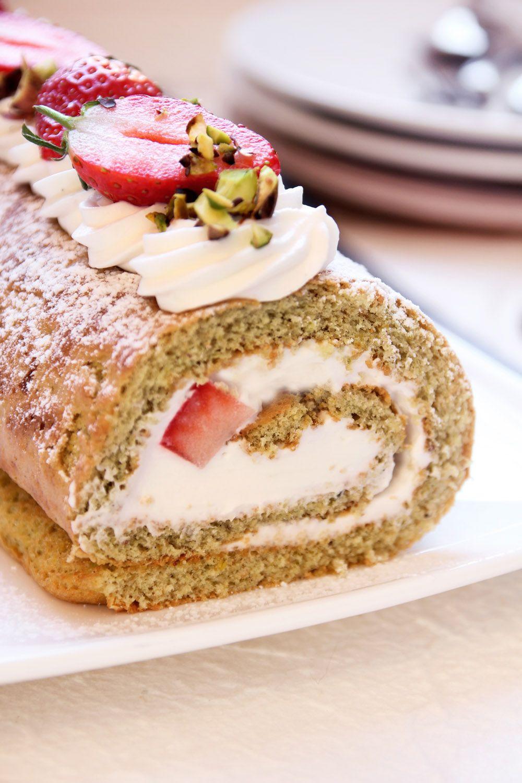 Strawberry Lemon Ricotta Cake