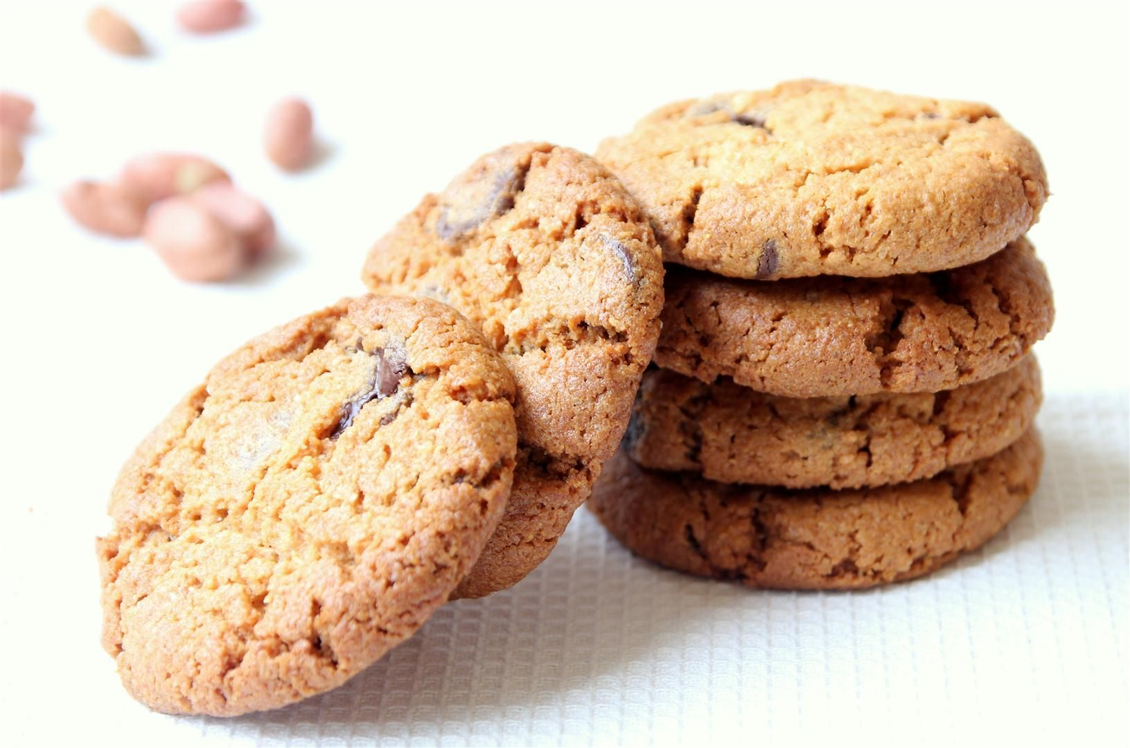 Vegan Peanut Butter Cookies with Chocolate Chips and Coconut