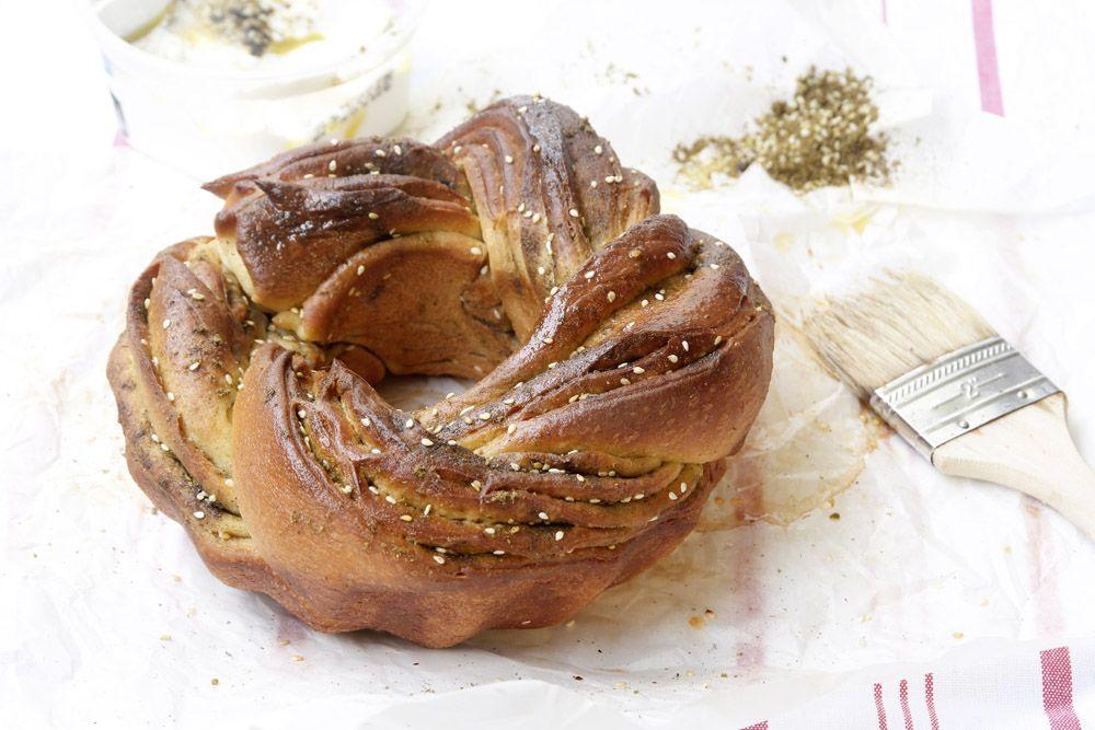 Za'atar and Olive Oil Challah