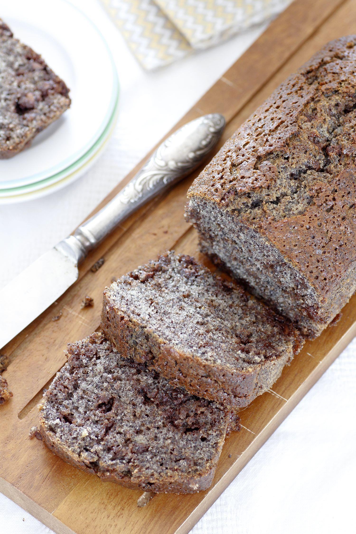 Chocolate Chip Poppy Seeds Cake
