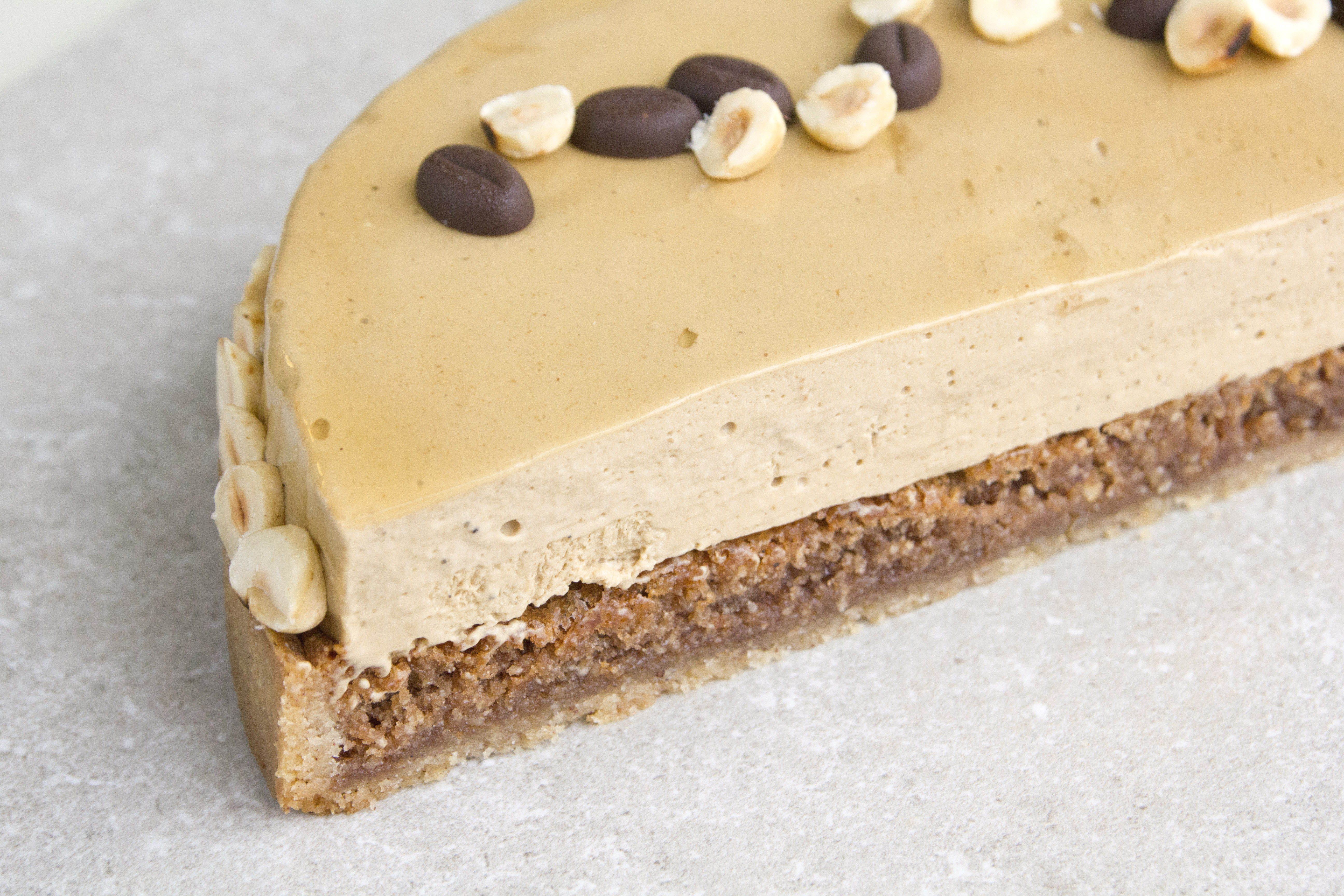 Coffee Tart with Hazelnuts and Cinnamon
