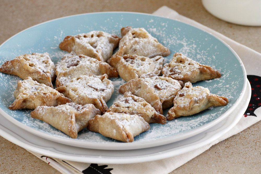 Coffee Hamantaschen filled with Chocolate and Halva