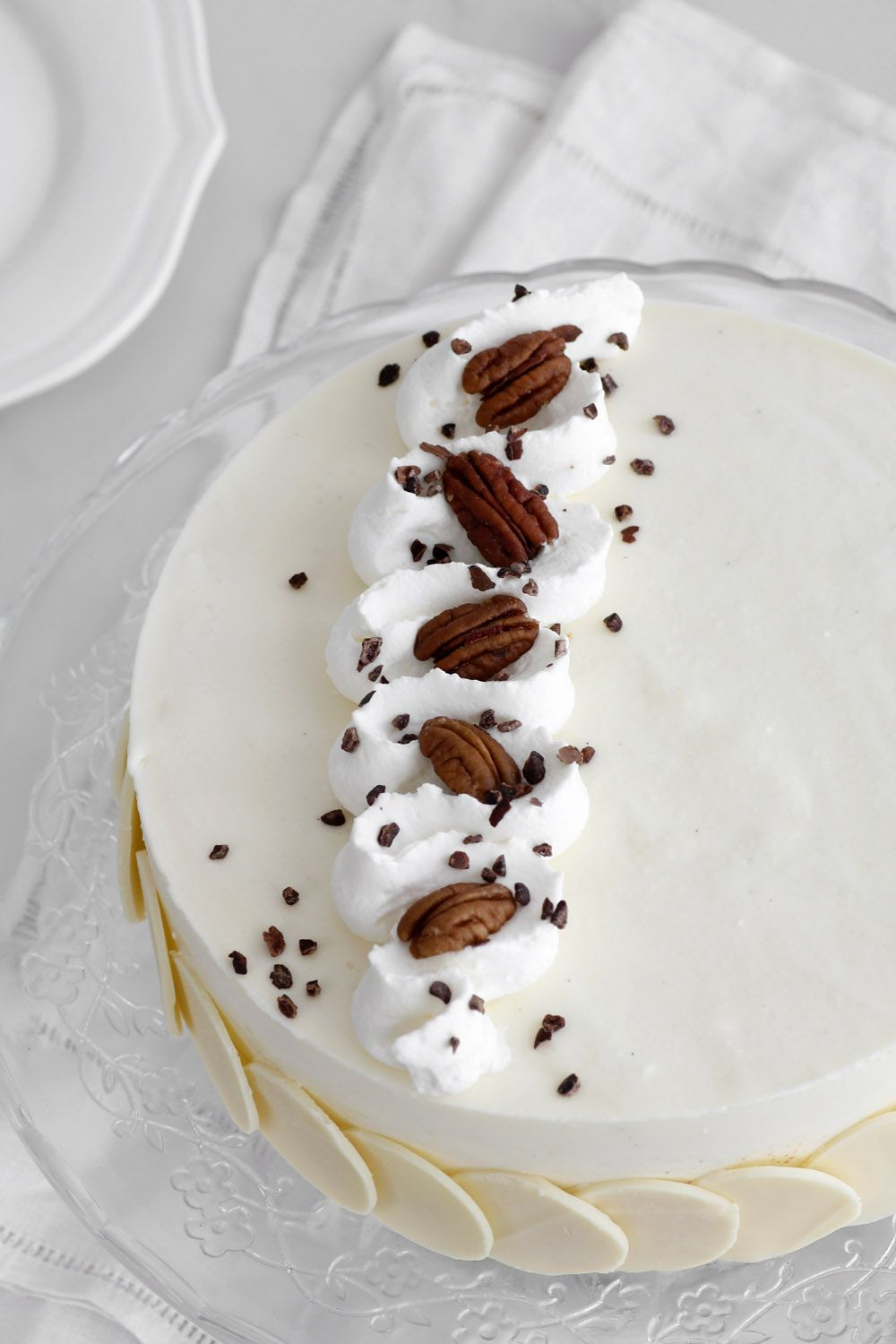 Little Switzerland Cake – Pecan, Mascarpone and White Chocolate