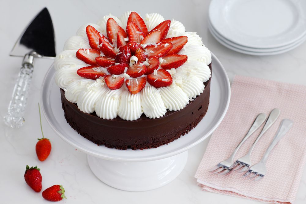 Gluten Free Chocolate Cake with Strawberry