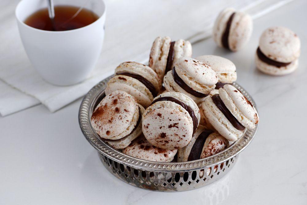 Chocolate and Earl Grey Macarons