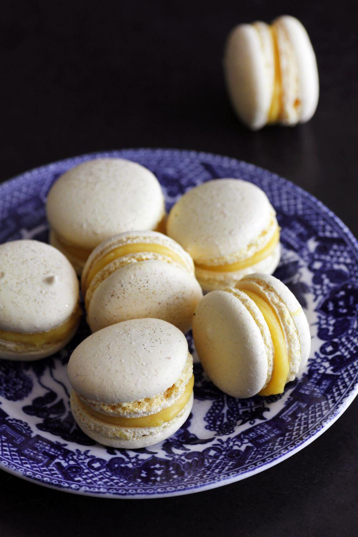 Lemon and Ginger Macarons