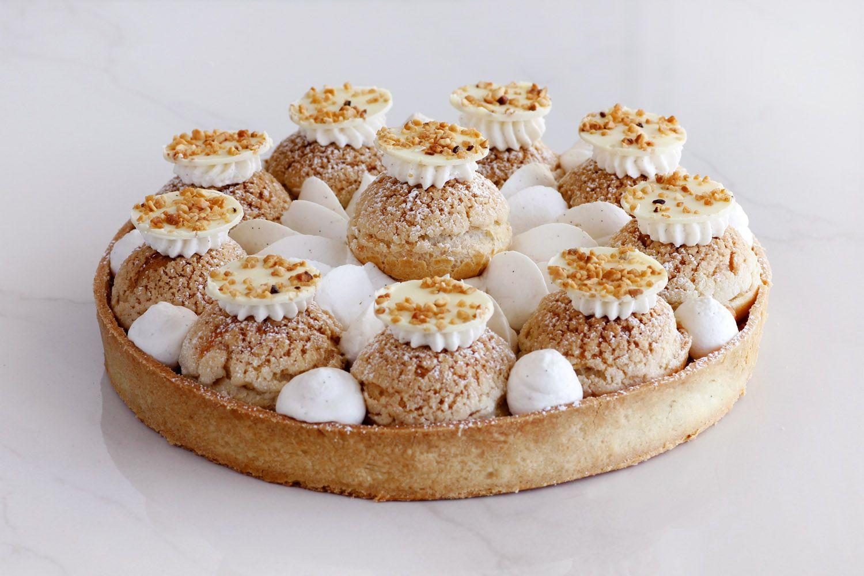 Saint Honore Tart – Caramel, Vanilla and White Chocolate