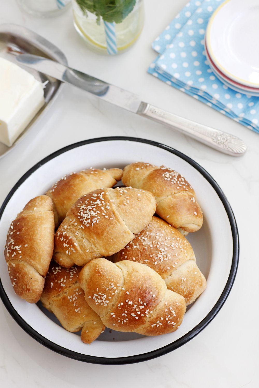 Soft Crescent Butter Rolls