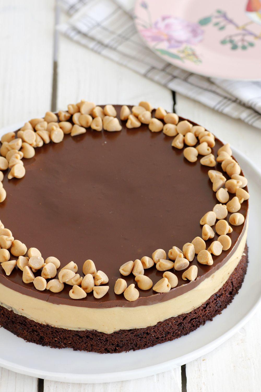 Coffee Chocolate Cake with Peanut Butter Cream