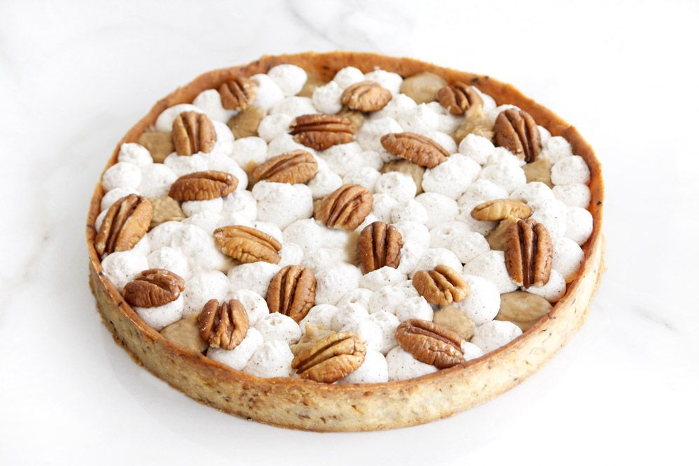 Coffee, Pecan and Cinnamon Tart