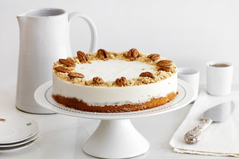 Halva Mousse Cake with Honey and Pecans