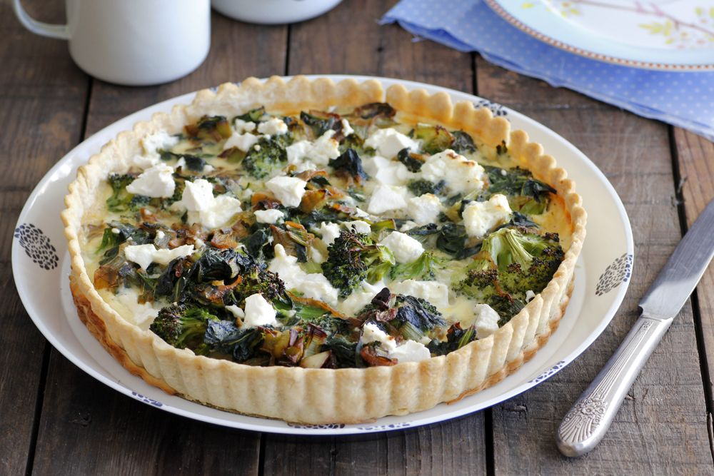 Broccoli Quiche with Leek and Chard