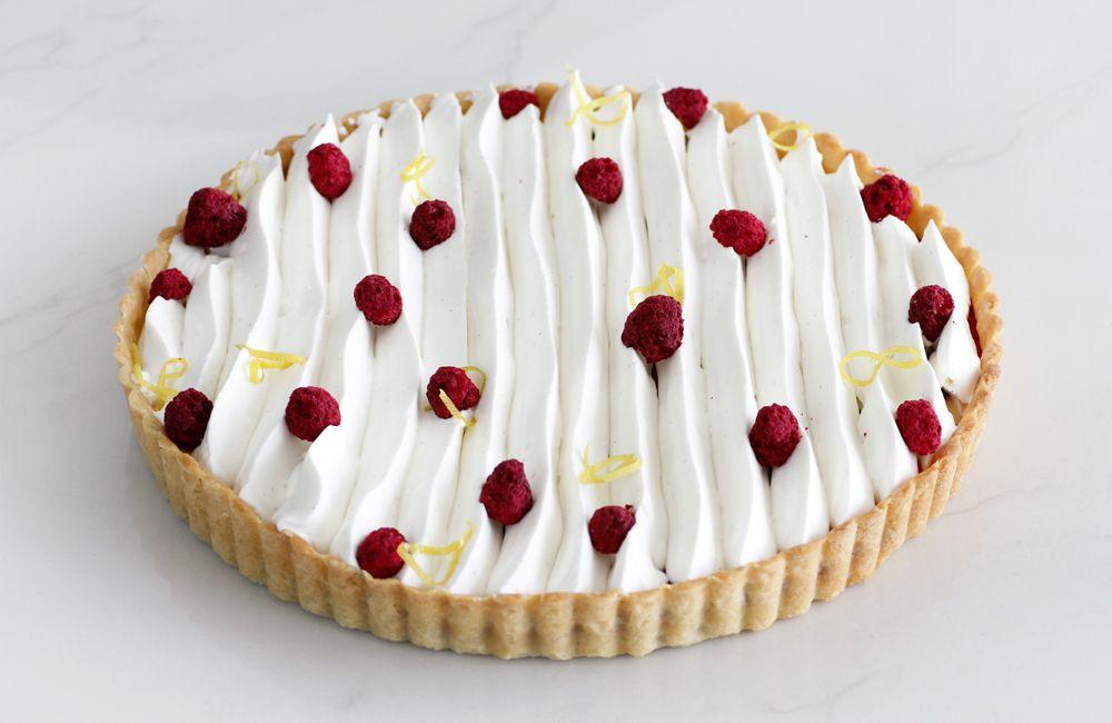 Raspberry Lemon Tart with Vanilla Cream
