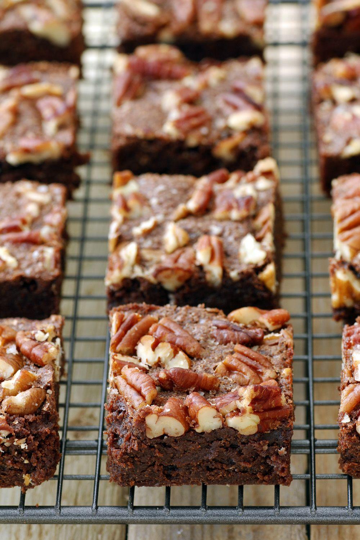 Pecan and Sea Salt Whole Wheat Brownies
