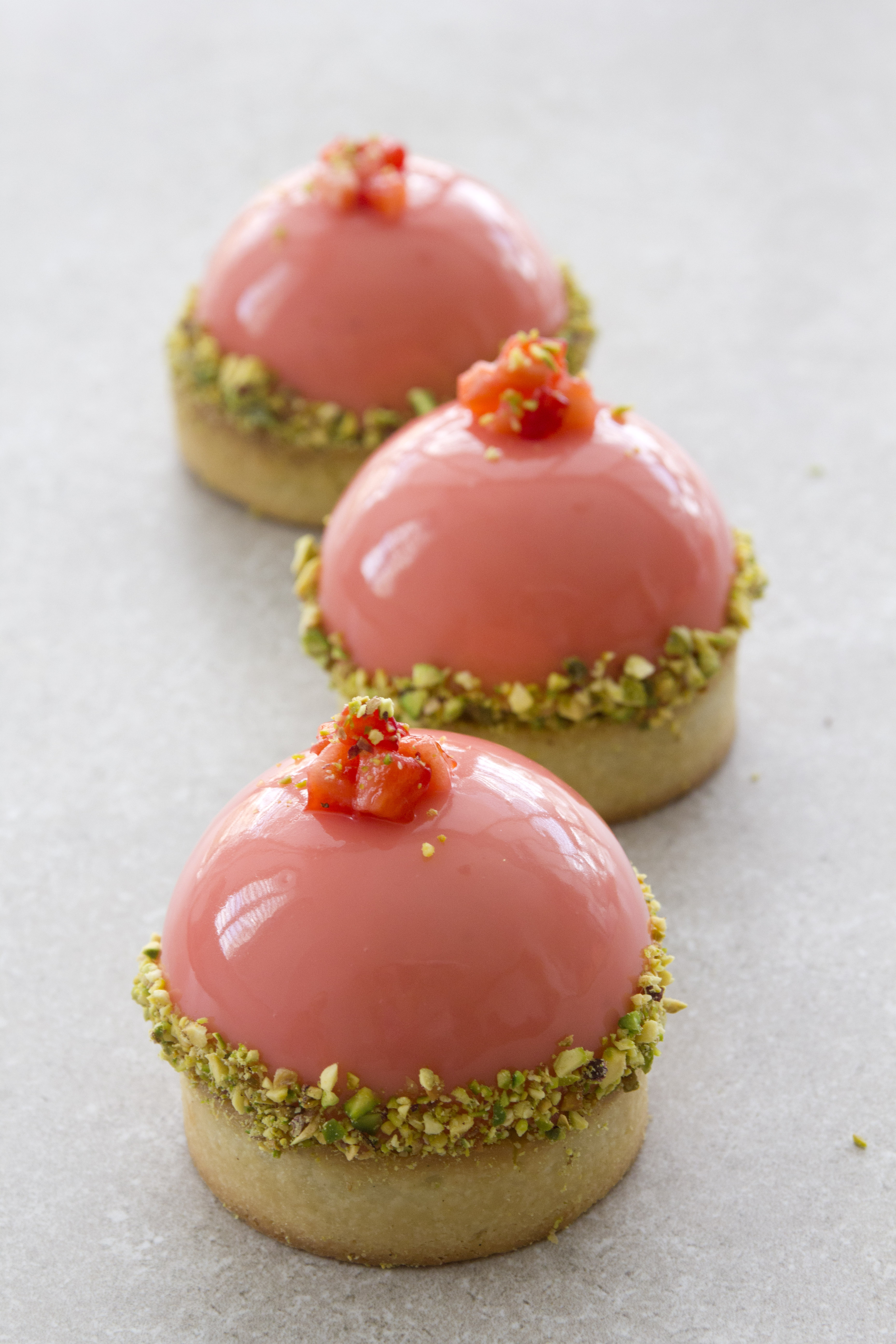 Pistachio and Strawberry Tartelettes