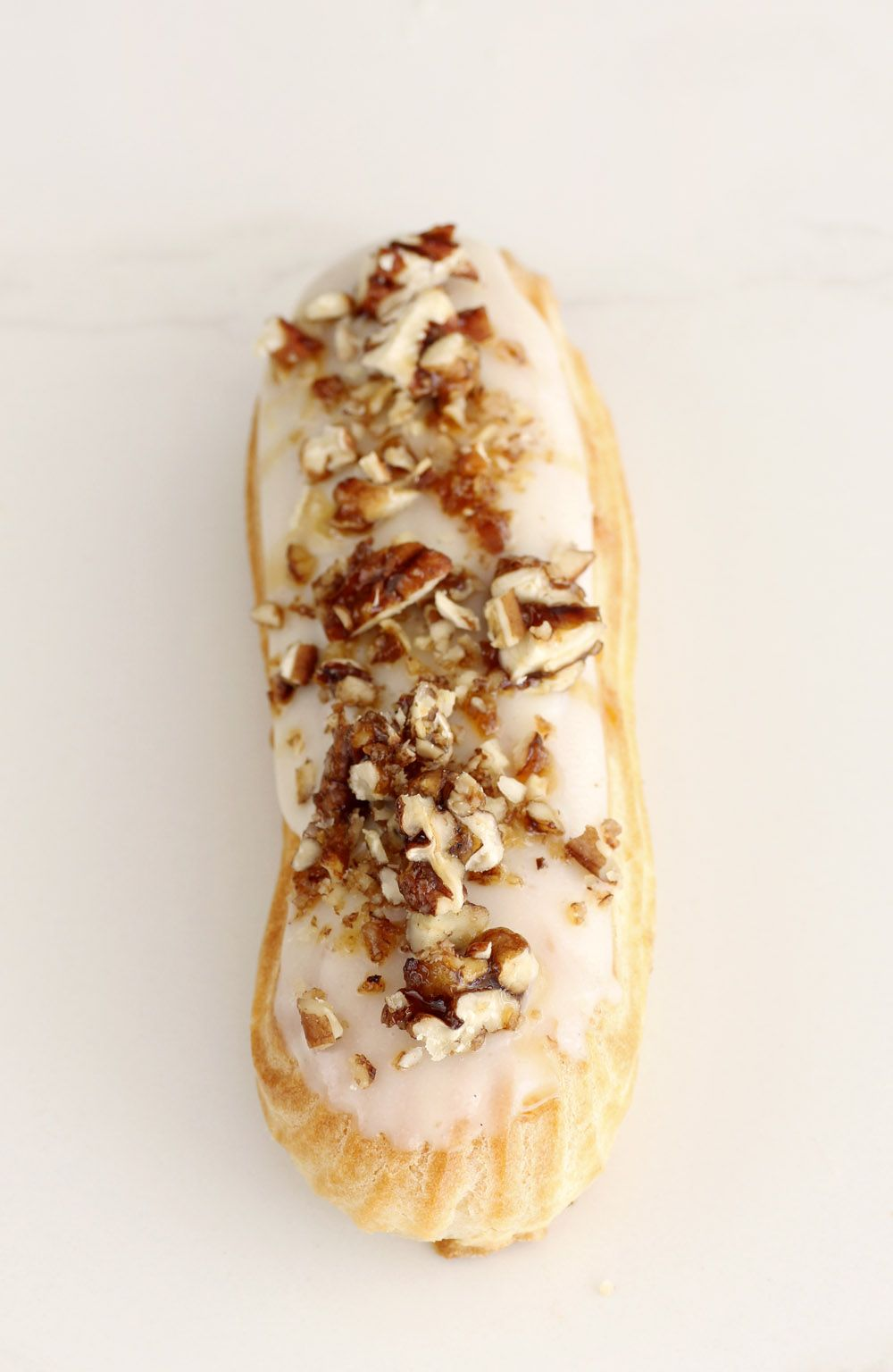 Vanilla and Pecan Eclairs