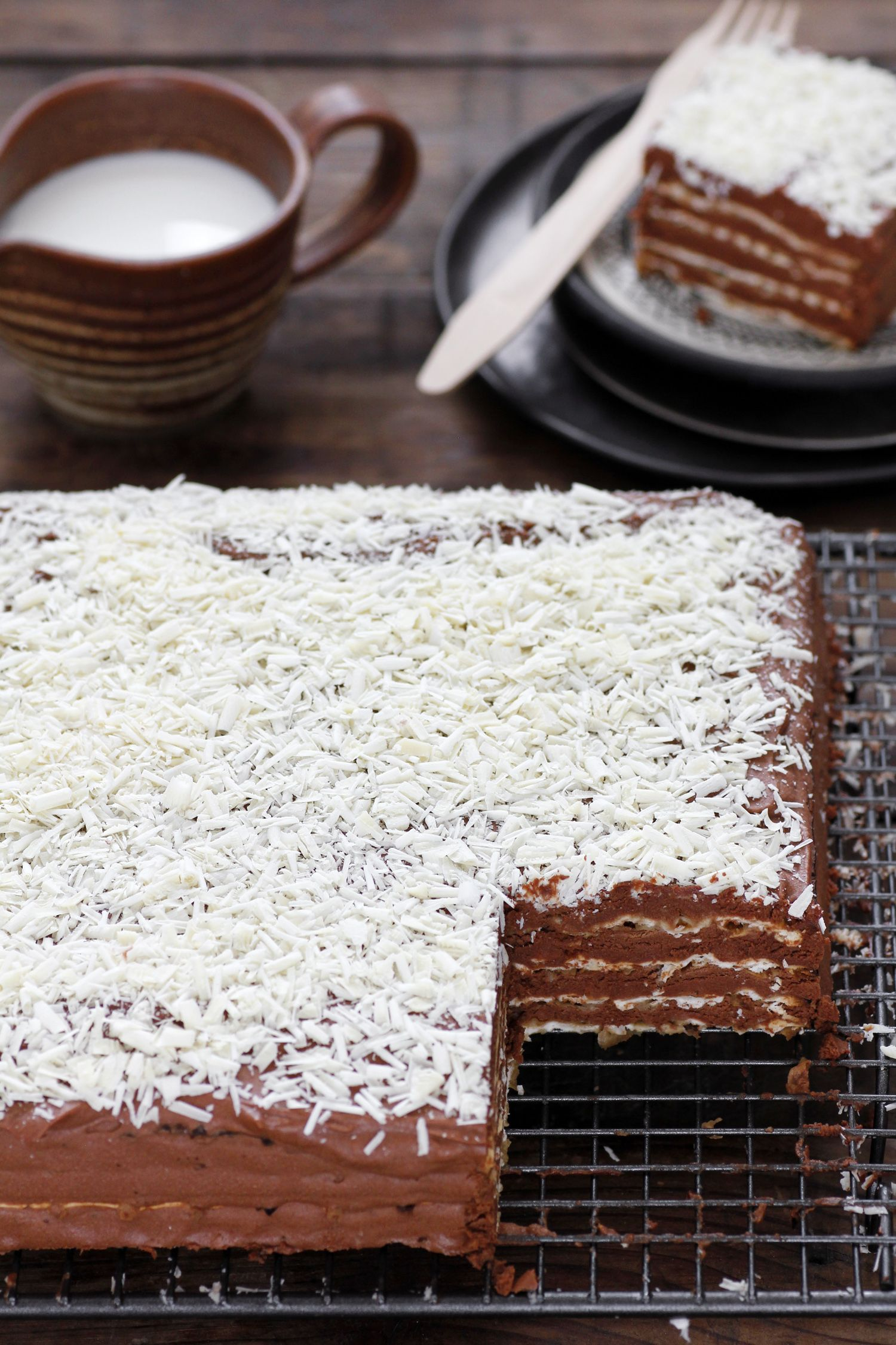 Traditional Chocolate Matzo Cake