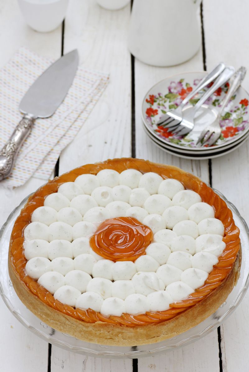 Apricot Tart with Yogurt Ricotta Cream