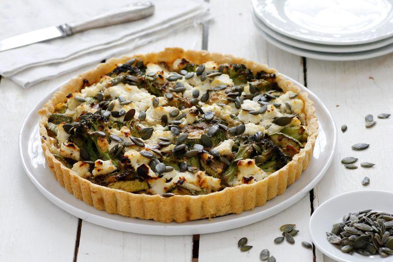 Zucchini Broccoli Quiche with Ricotta
