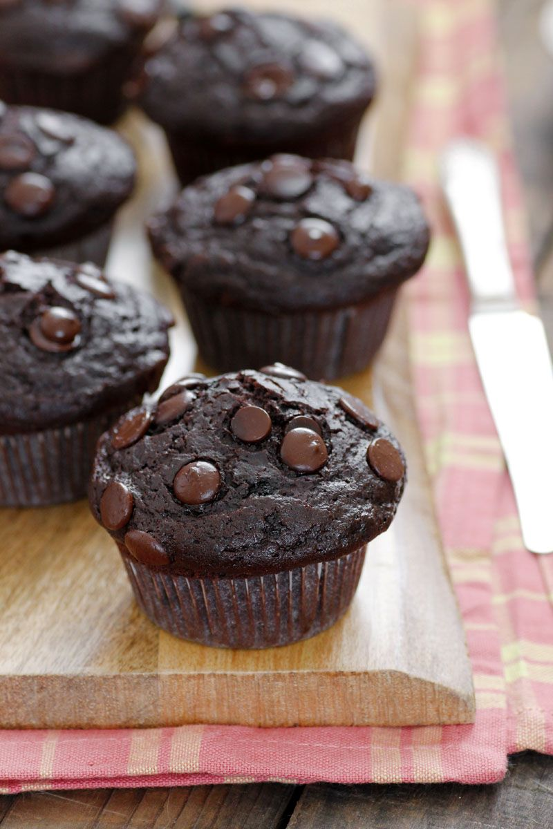 Chocolate and Olive Oil Muffins