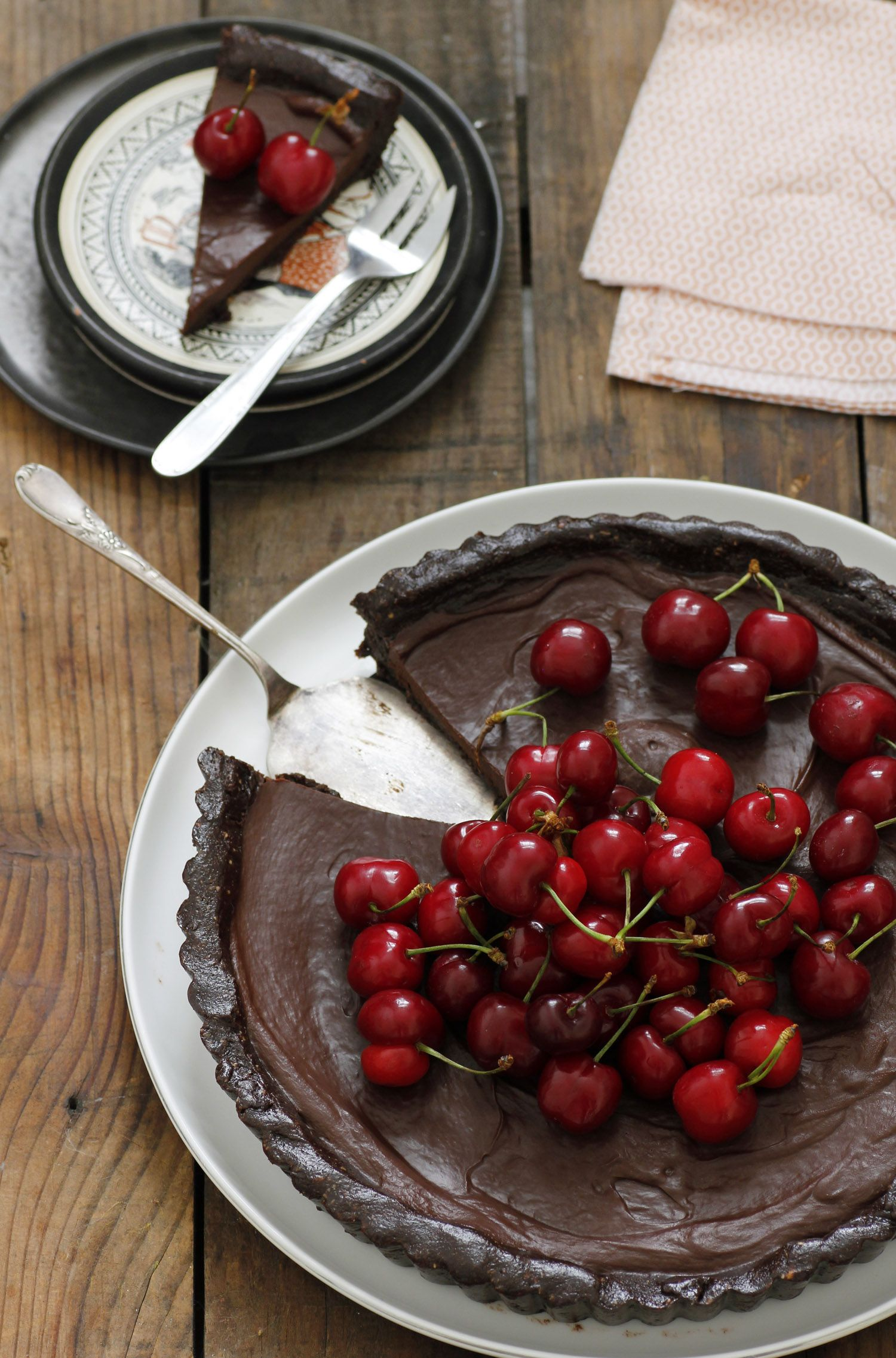 Vegan Chocolate and Cherry Pie
