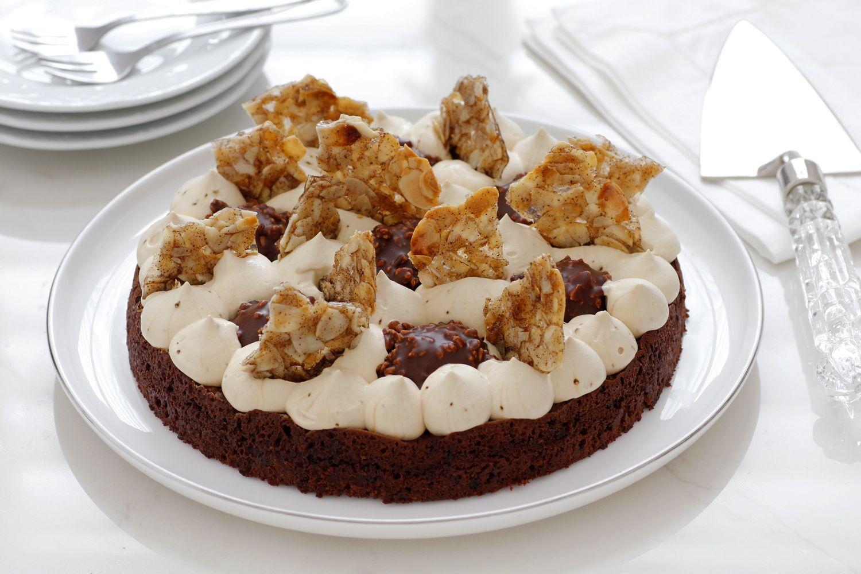 Chocolate Ferrero Roche Cake with Coffee and Almond